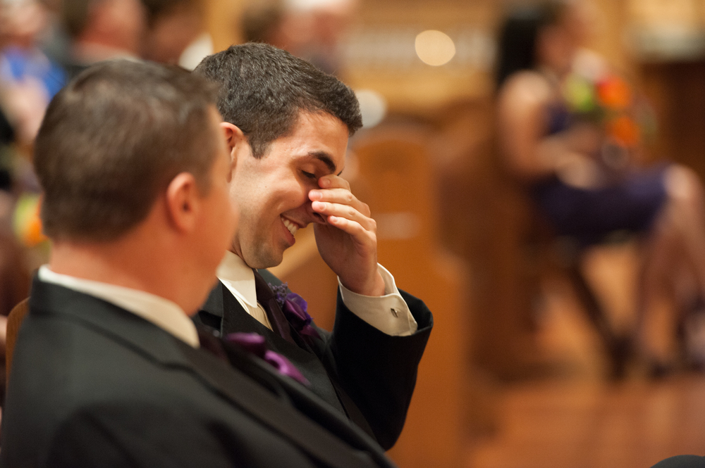Laughing During Wedding