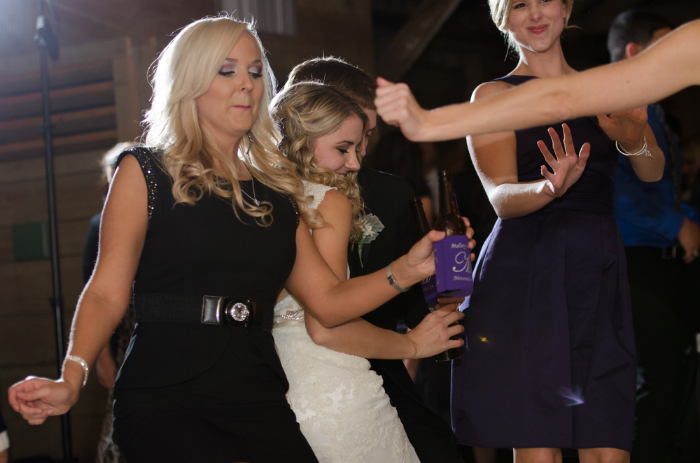 Bride and Guests Dance at Wedding Reception