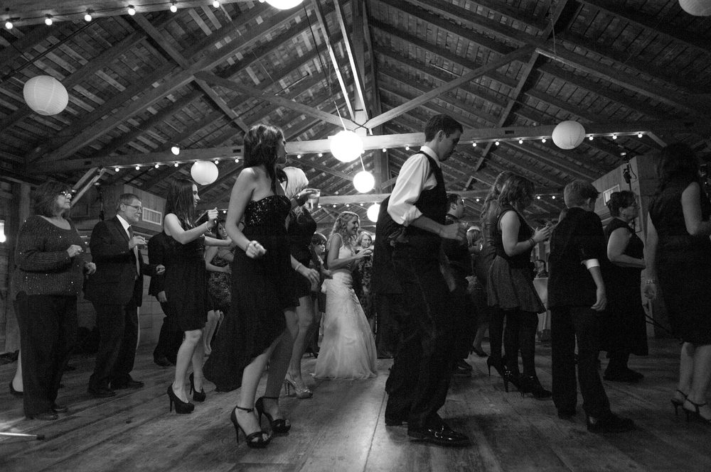 Group Dancing at Wedding Reception