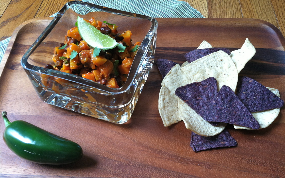 Warm Butternut Squash and Blackbean Salsa
