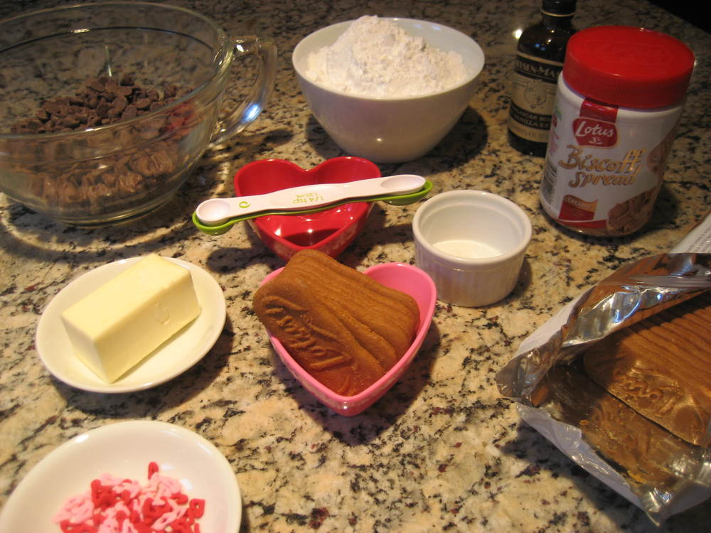 Ingredients for Chocolate Covered Cookie Butter Balls