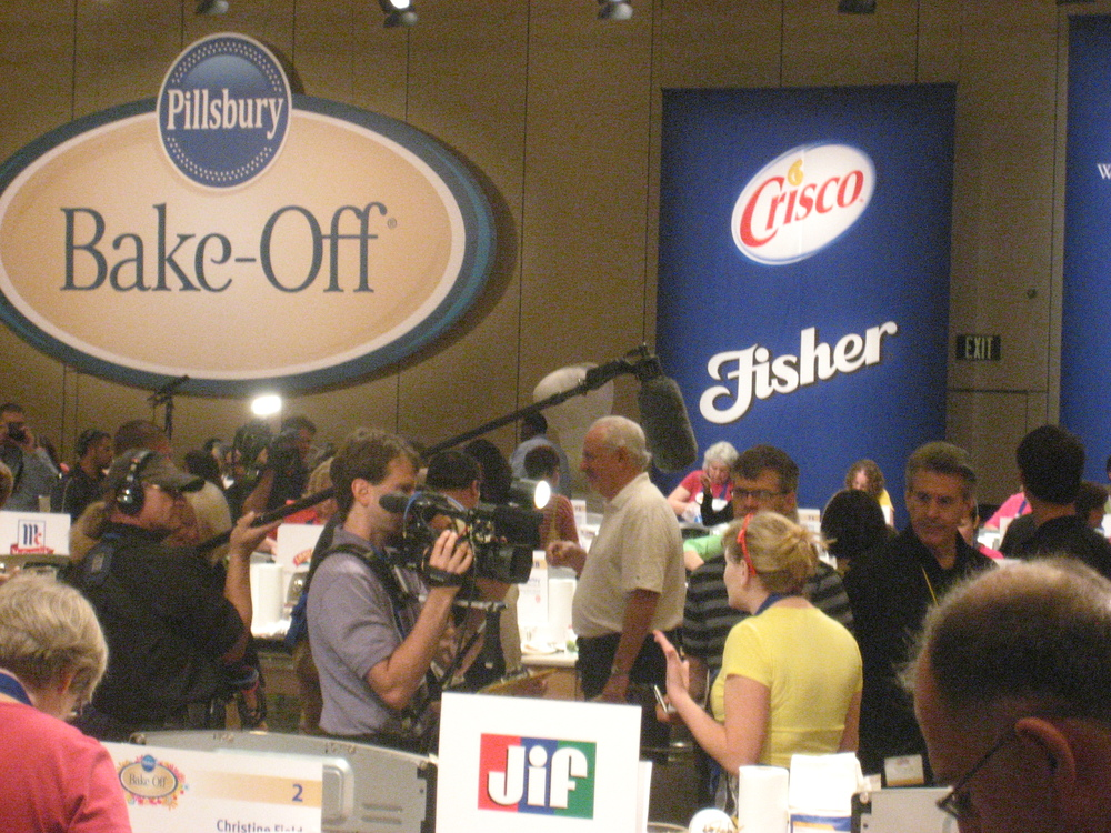 Being interviewed while working on my recipe at the 45th Pillsbury Bake-Off.