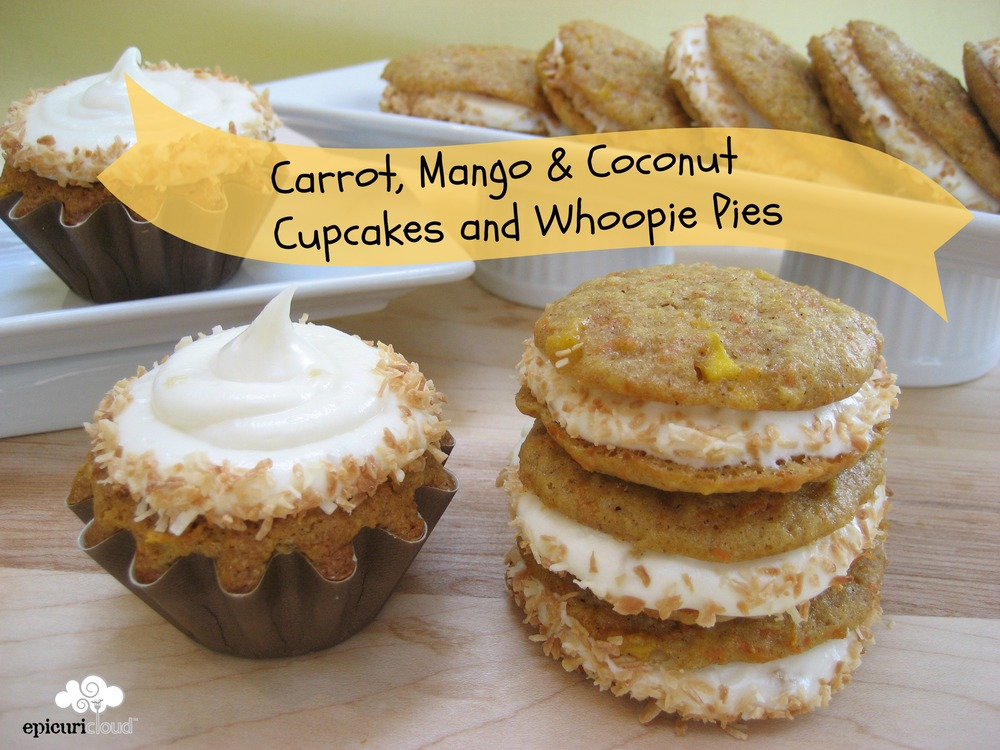 Carrot, Mango & Coconut Cupcakes and Whoopie Pies Recipe ...