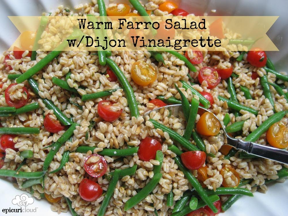Printable Recipe: Warm Farro Salad w/ Dijon Vinaigrette (Vegan ...