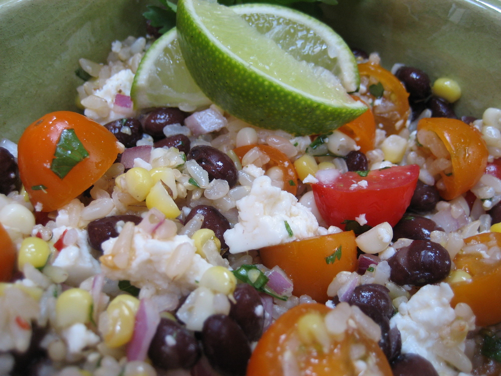 epicuricloud-roasted-corn-black-bean-brown-rice-salad-chipotle-lime-dressing