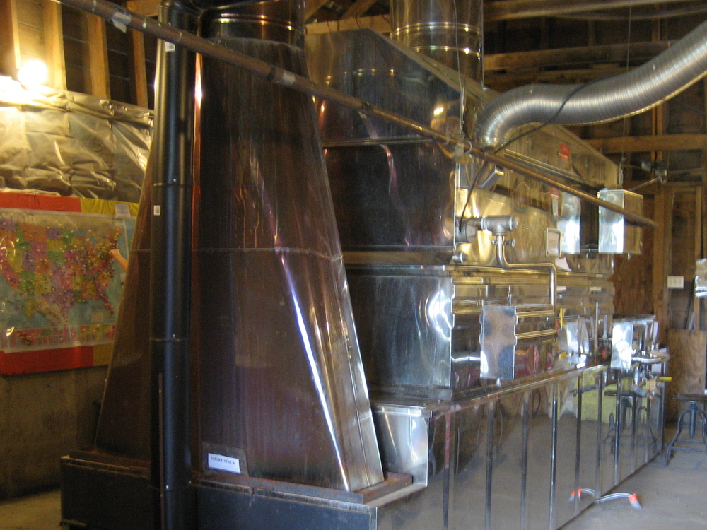 Check out this massive evaporator system in the sugarhouse!