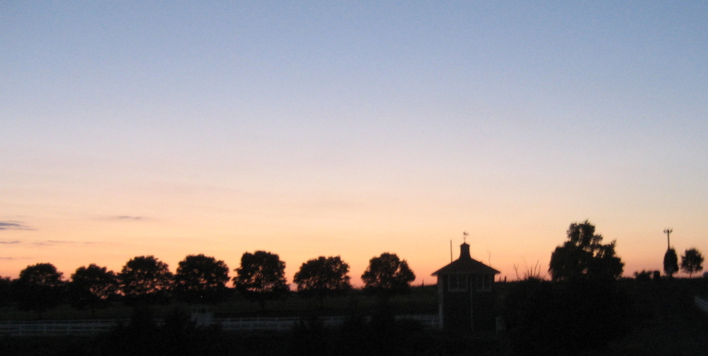 Sunset at The Montgomery County 4-H Center in Skippack, PA.  Home to the Montco Beekeeper Assoc. meetings.
