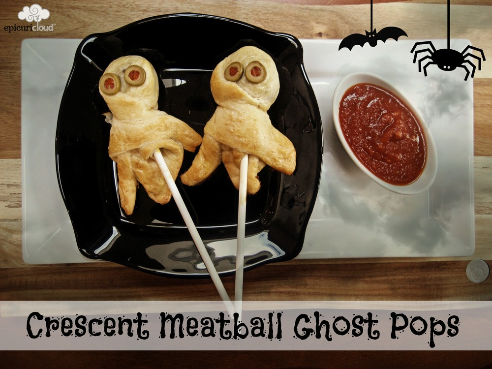 Crescent Meatball Ghost Pops