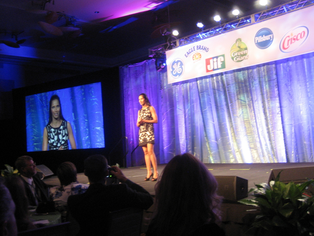 Padma Lakshmi announcing the winners!
