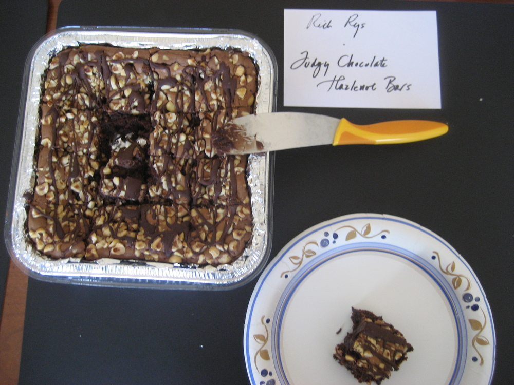 Rich Rys, Senior Editor, made Julie Pando's   Fudgy Chocolate Hazlenut Bars  .  These were a moist, fudgy, chocolate lover's dream!