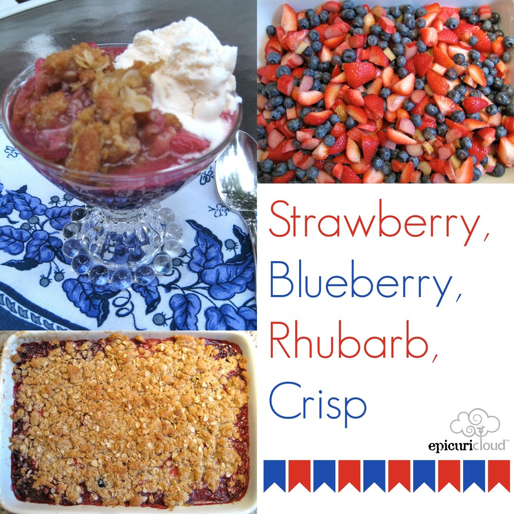 epicuricloud Strawberry Blueberry Rhubarb Crisp