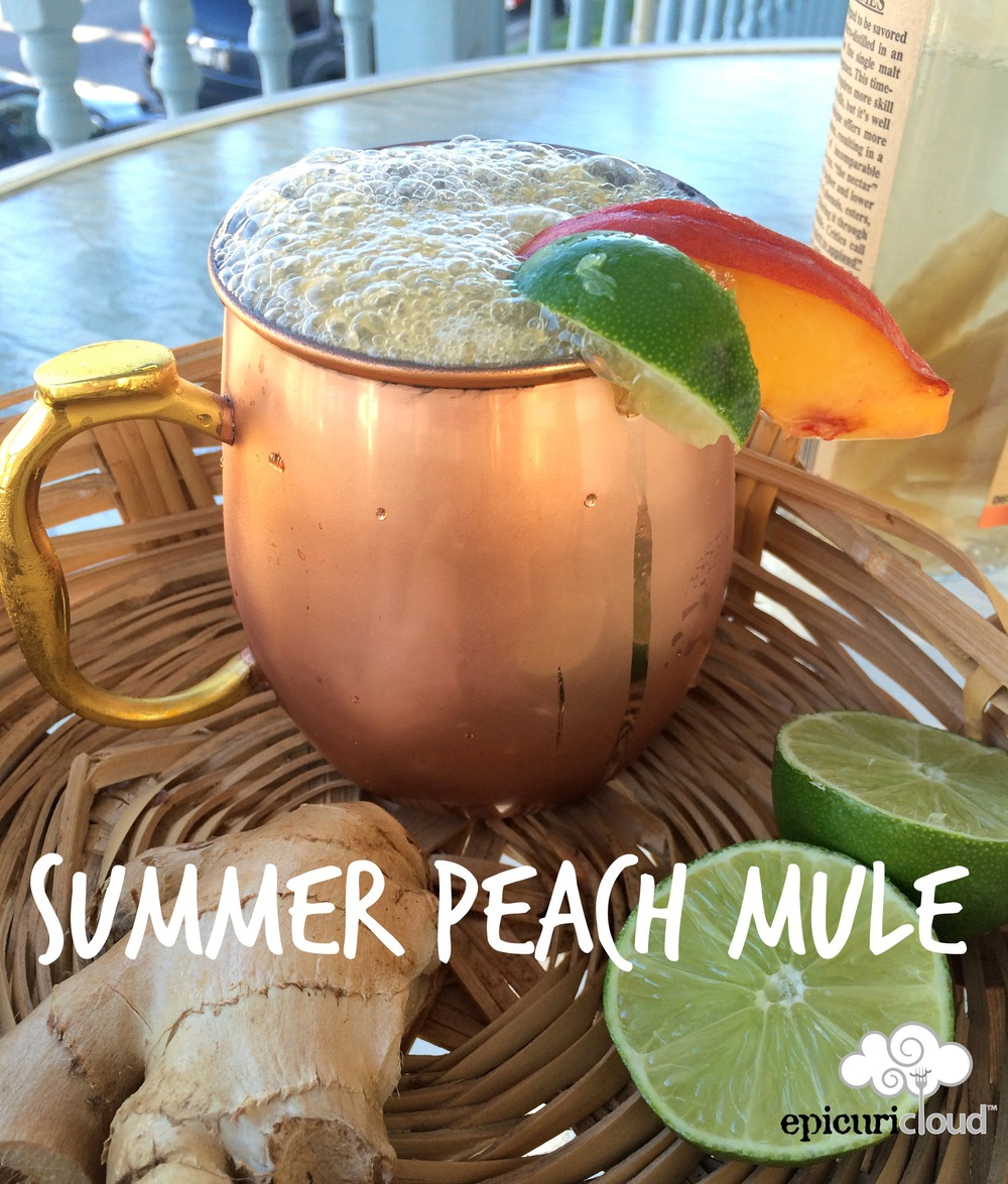 epicuricloud summer peach mule