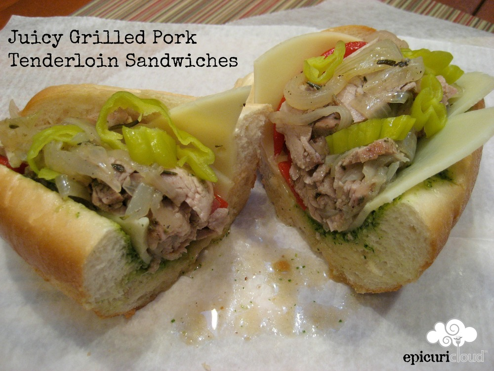 Juicy Grilled Pork Tenderloin Sandwiches - epicuricloud