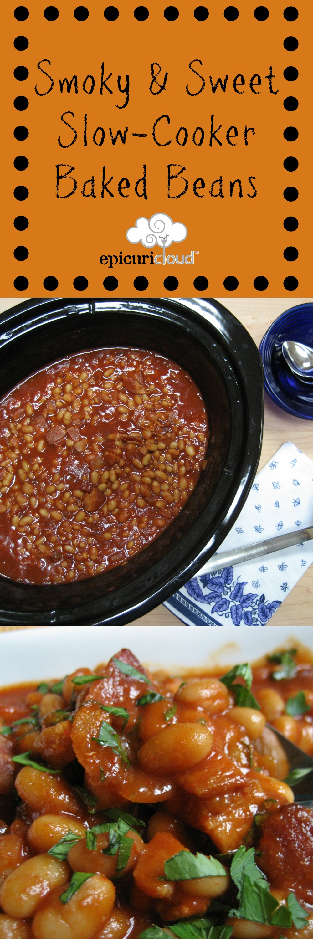 Smoky & Sweet Slow-Cooker Baked Beans - epicuricloud