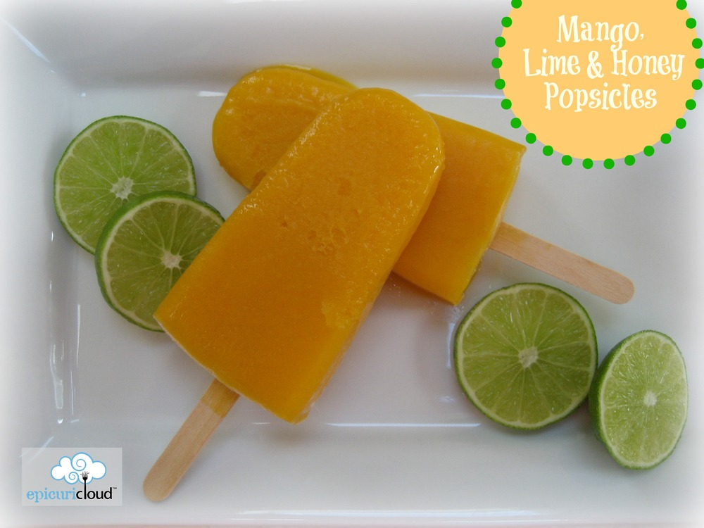 Mango, Lime and Honey Popsicles - epicuricloud