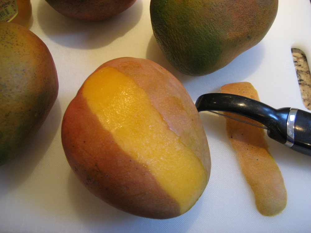 Peel the Mangoes