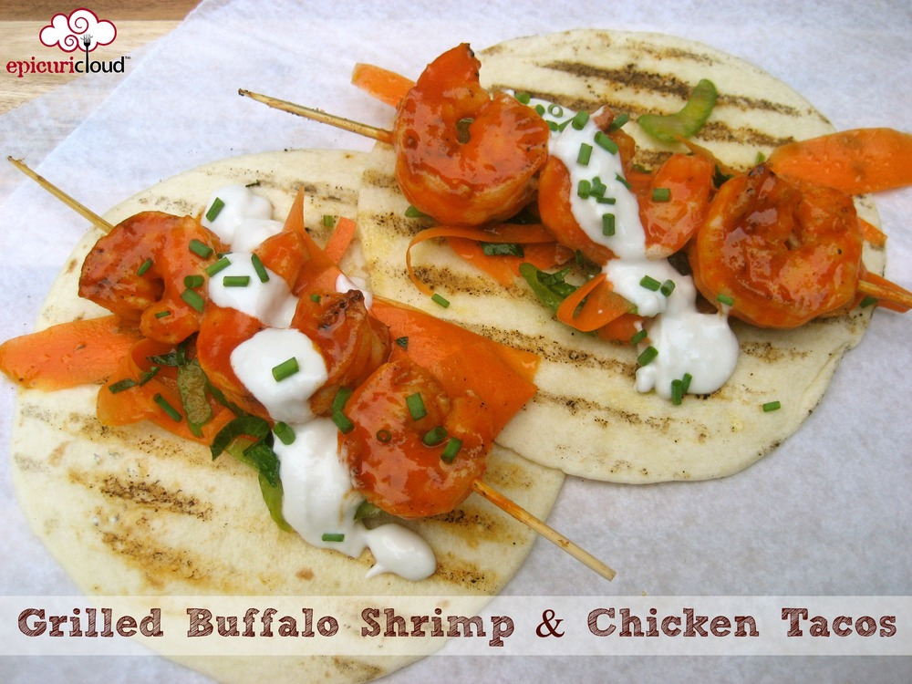 Grilled Buffalo Shrimp and Chicken Tacos - epicuricloud