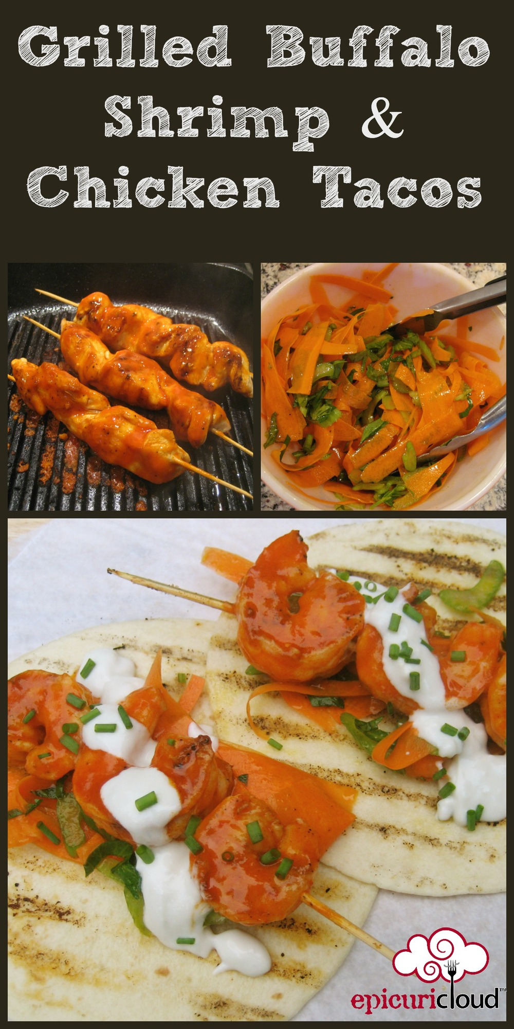 Grilled Buffalo Shrimp & Chicken Tacos - epicuricloud