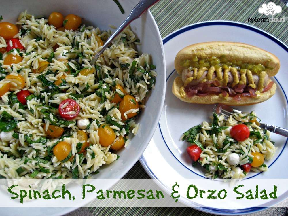 Spinach, Parmesan and Orzo Salad - epicuricloud