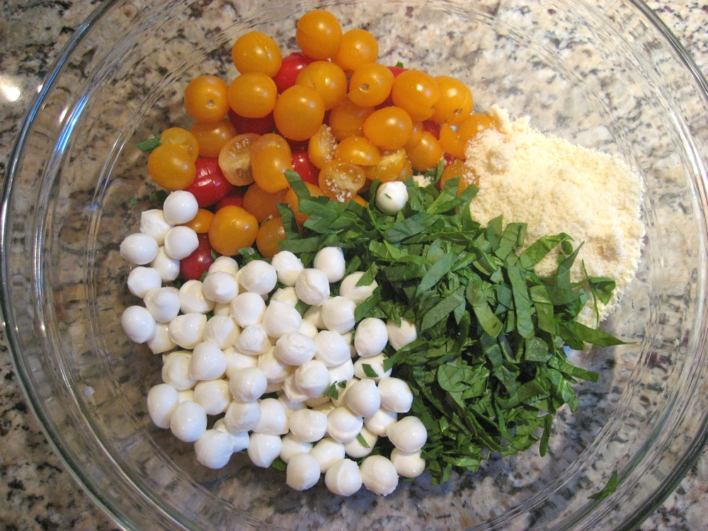 Gather all Ingredients and Make Dressing While the Orzo Cooks