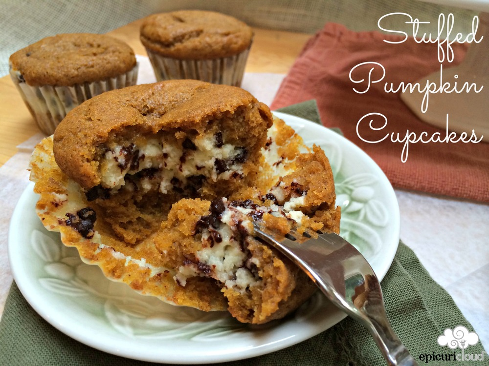 Stuffed Pumpkin Cupcakes - epicuricloud