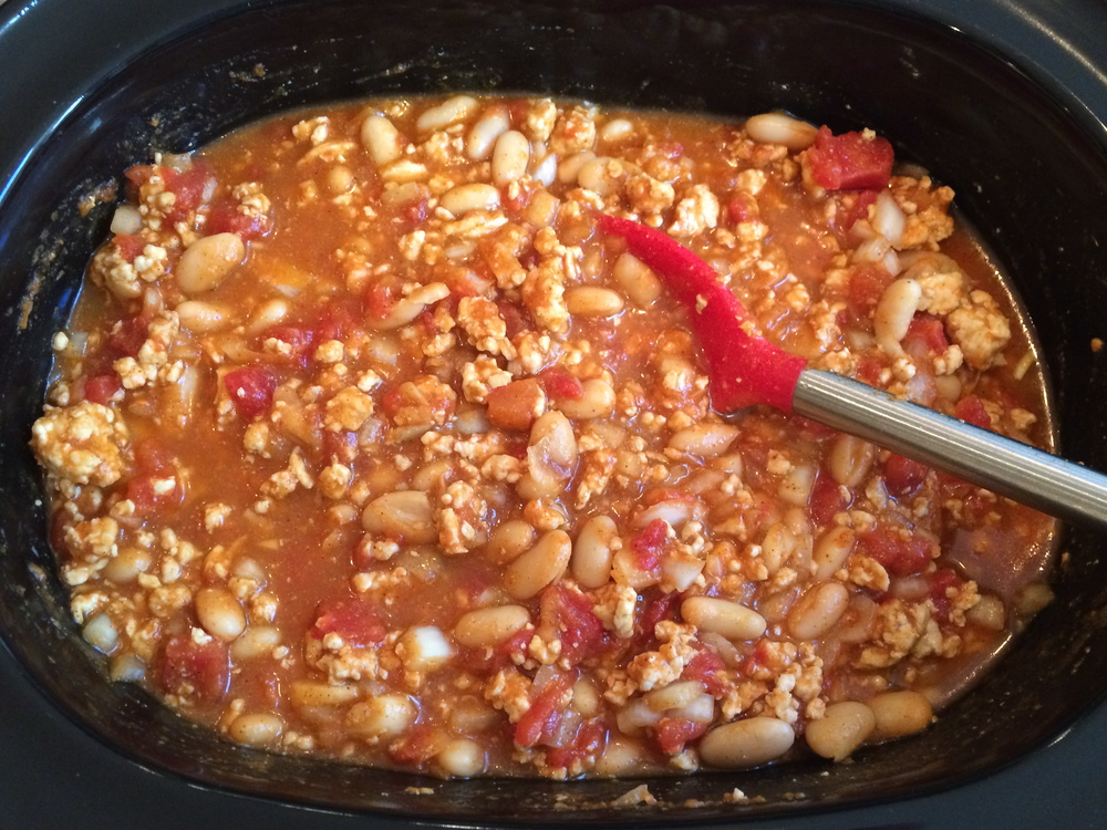 Simmer in slow-cooker
