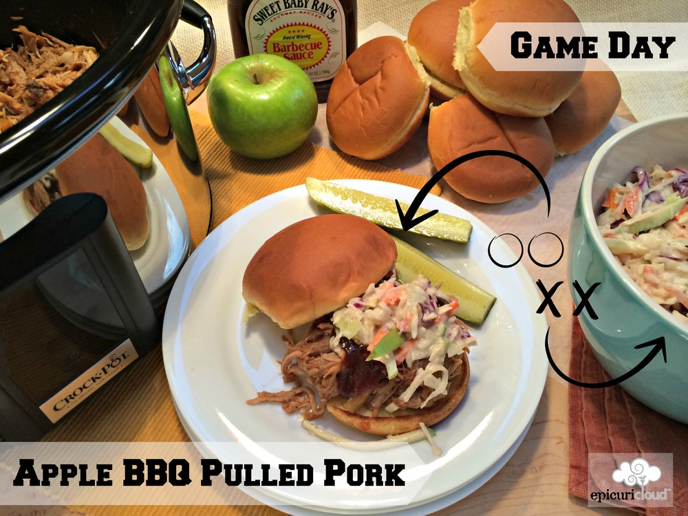 Game Day Apple BBQ Pulled Pork - epicuricloud