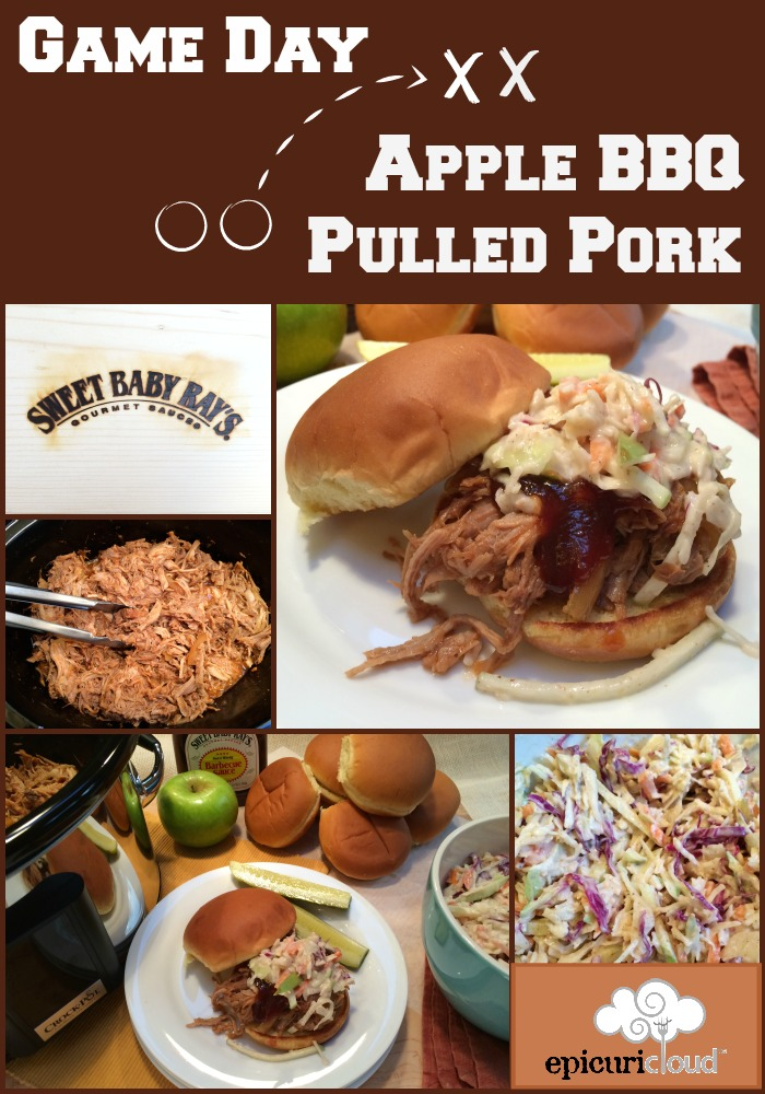 Game Day Apple BBQ Pulled Pork and Apple Slaw - epicuricloud