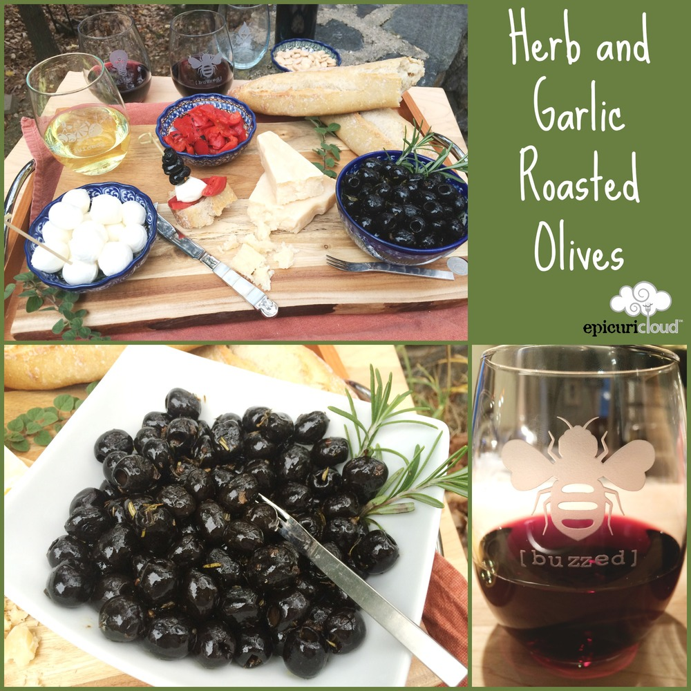 Herb and Garlic Roasted Olives - epicuricloud
