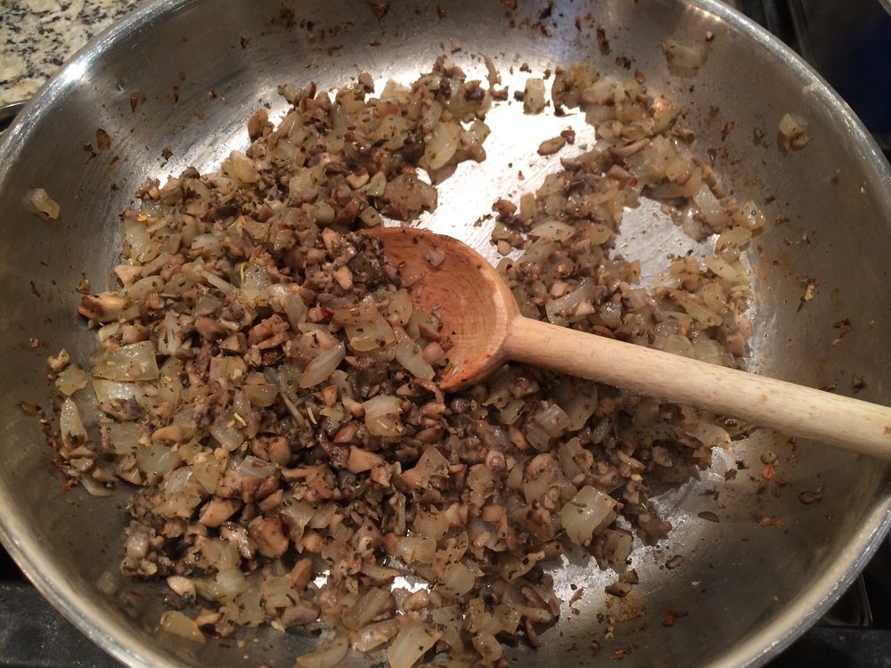 takes about 8-10 minutes for the mushrooms to release their juices and start to caramelize