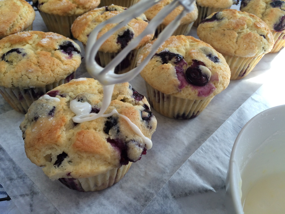 Drizzle on still warm muffins…mmm