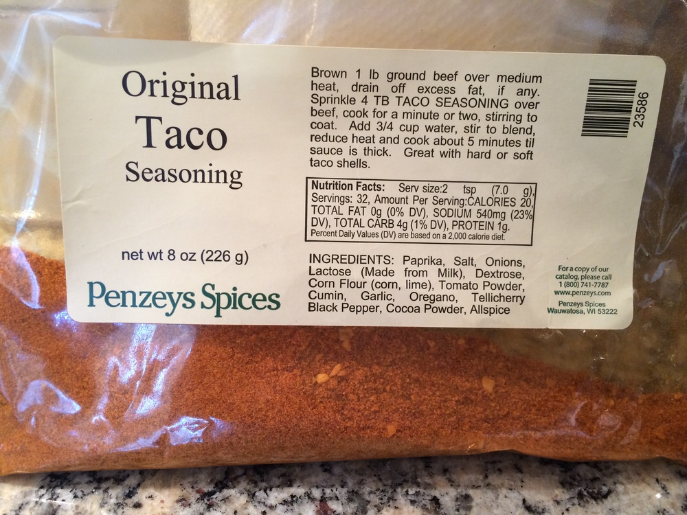 This is my favorite taco seasoning.  I love  penzeys  products.
