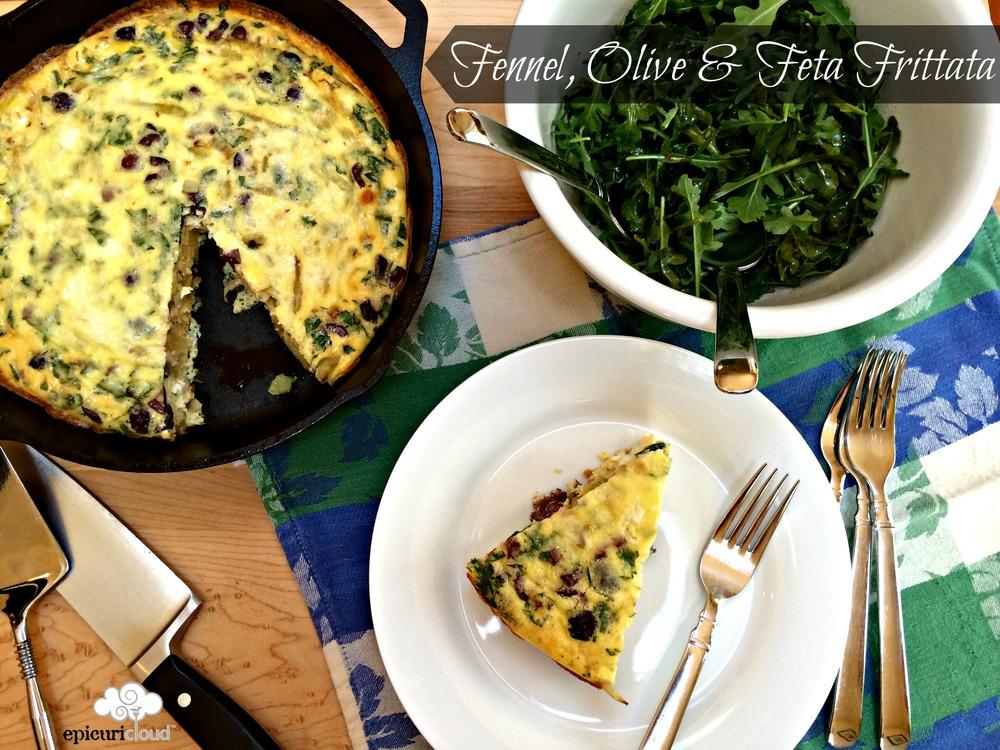 Fennel Olive Feta Frittata Recipe Epicuricloud