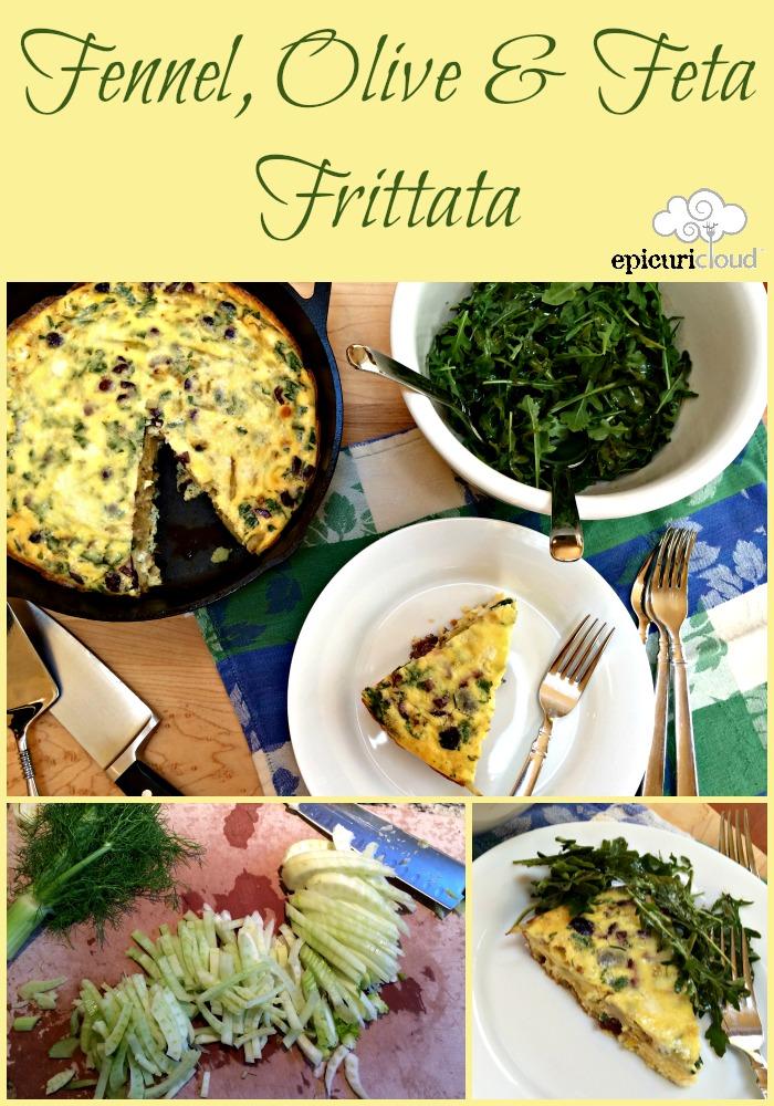 Fennel, Olive & Feta Frittata - epicuricloud.com