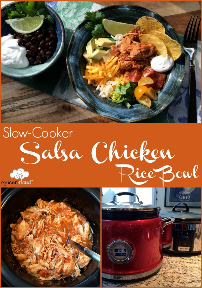 Slow-Cooker Salsa Chicken Rice Bowl Recipe - epicuricloud