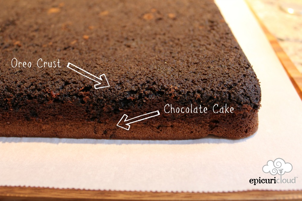 Oreo Upside Down Sheet Cake diagram epicuricloud.com