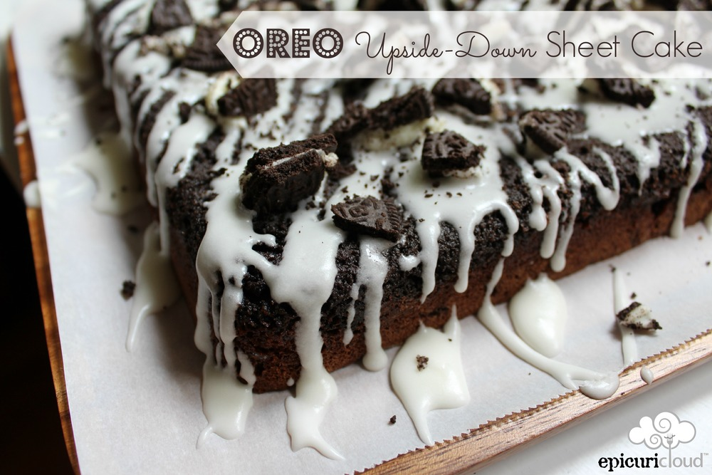 oreo upside down sheet cake MMM epicuricloud.com