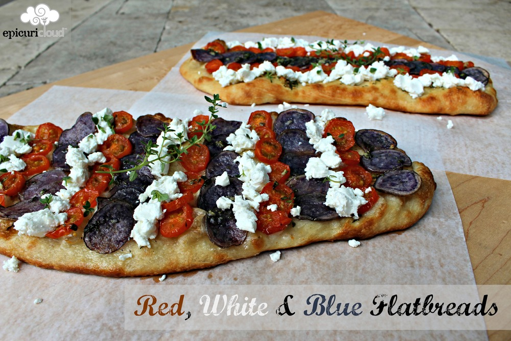 red white and blue flatbread recipe - epicuricloud.com