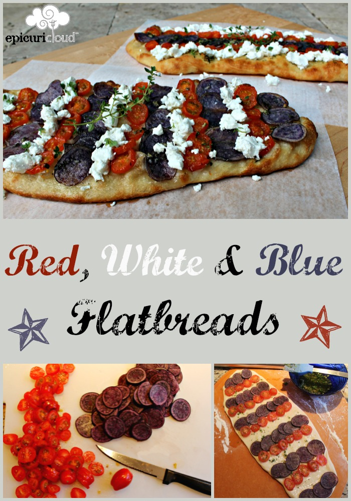 Red, White and Blue Flatbreads Recipe - epicuricloud.com