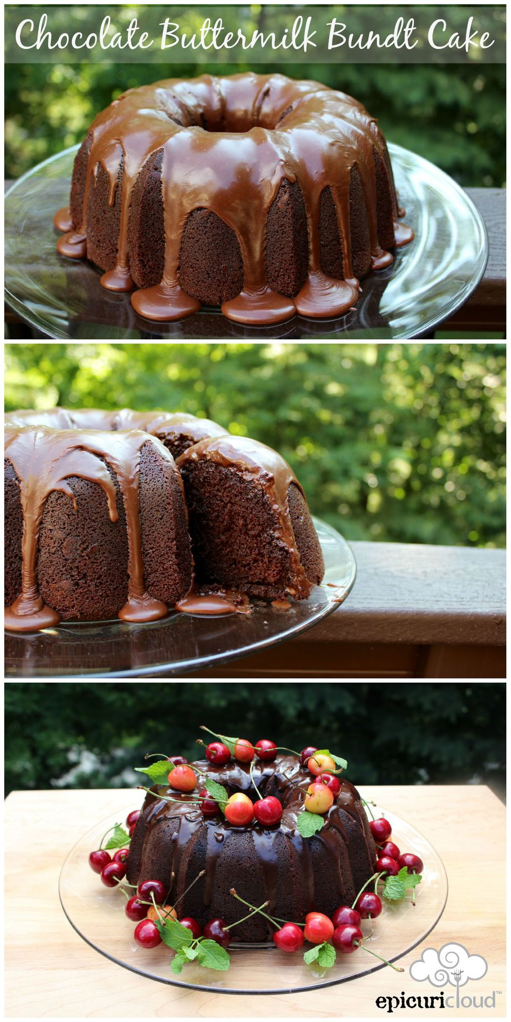 Chocolate Buttermilk Bundt Cake - Epicuricloud.com