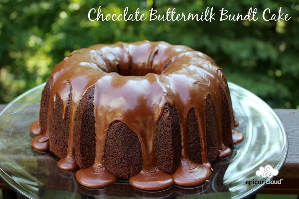 Chocolate Buttermilk Bundt Cake @epicuricloud.com
