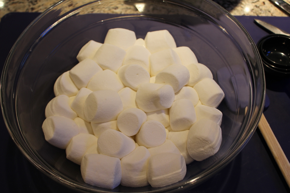 ...the marshmallows are puffed and squishy (took me about 1 min. and 15 sec.)