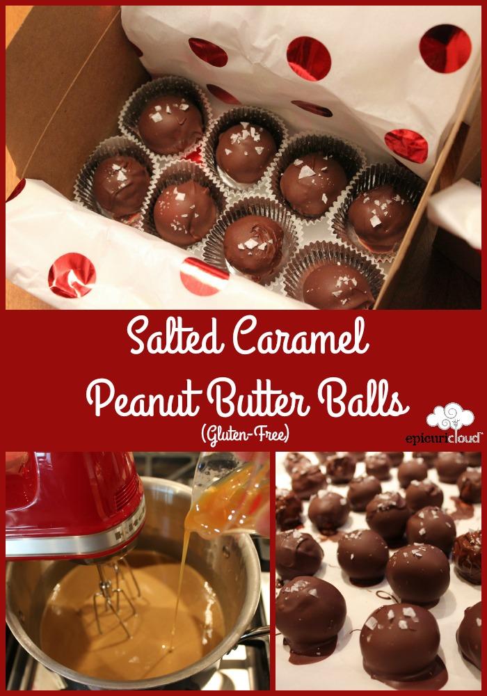 Salted Caramel Peanut Butter Balls - epicuricloud