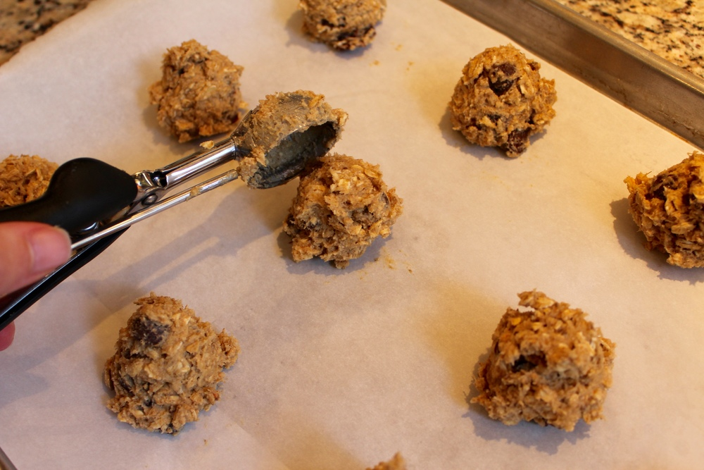 Scoop cookie portions and bake!