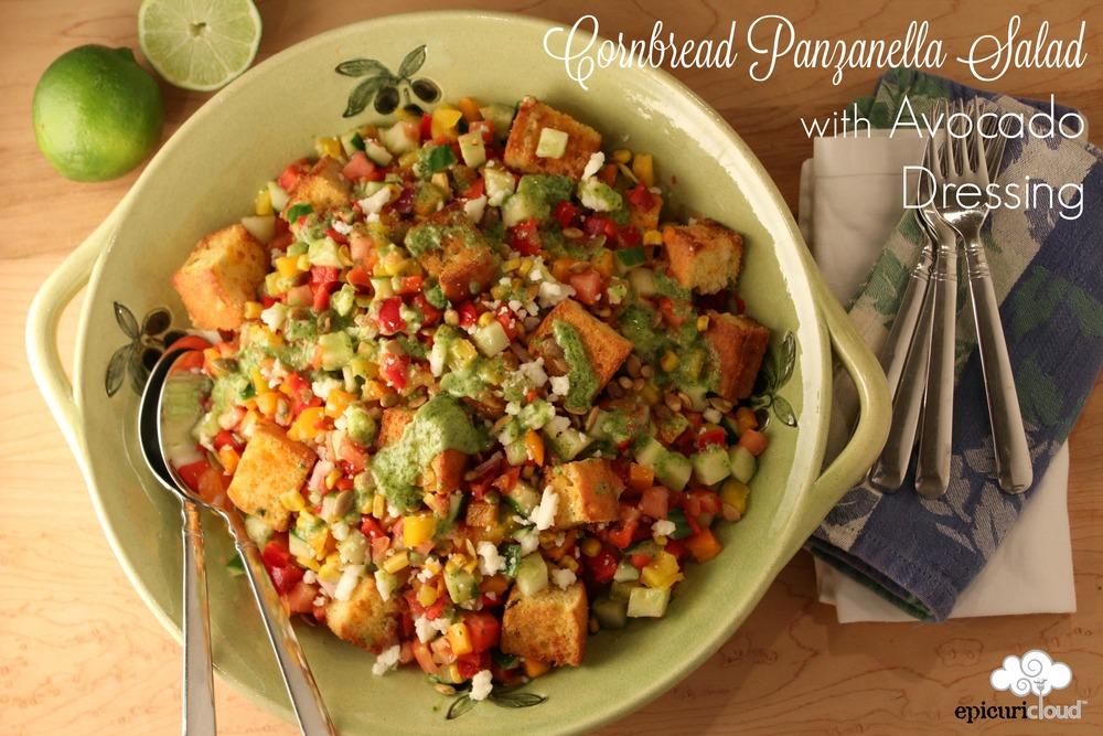 Cornbread Panzanella Salad - epicuricloud.com