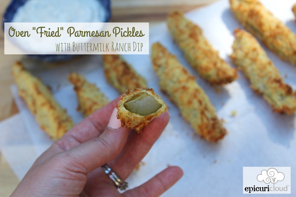 oven fried parmesan pickles - epicuricloud