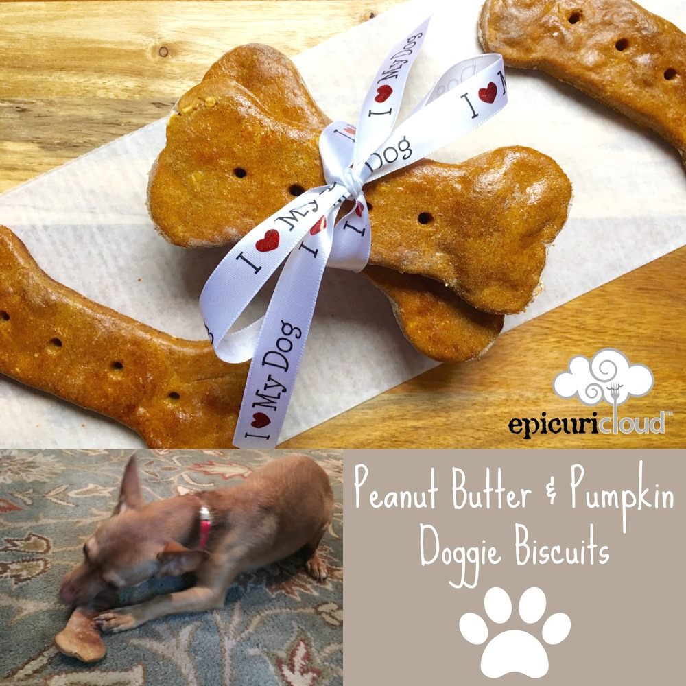 Peanut Butter and Pumpkin Doggie Biscuits - epicuricloud.com