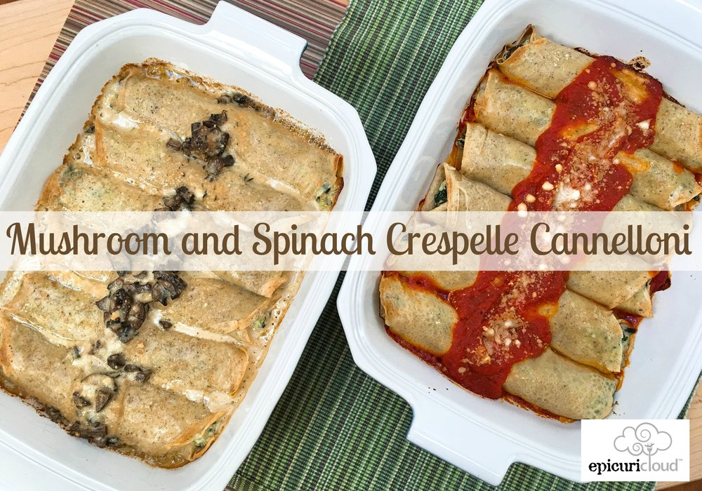 Mushroom and Spinach Crespelle Cannelloni Recipe - epicuricloud.com