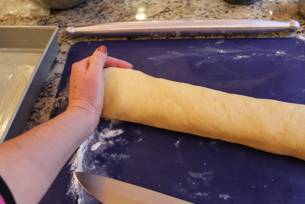 Once rolled, I pat the ends in if they seem to thin...