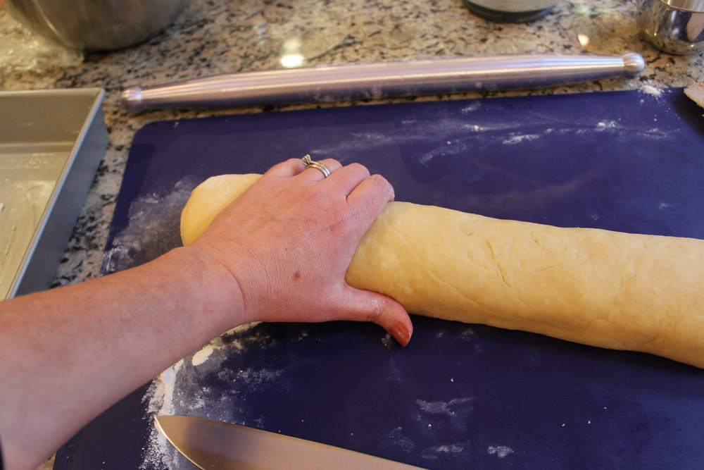 ...and gently press to make an even roll and make sure it's all sealed.